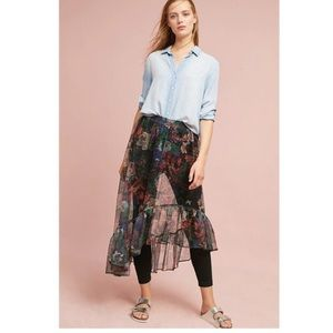 Anthropologie MAEVE Meena Skirted Pants Leggings